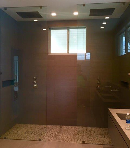 Fixed Panel Showers By Paradise Glass And Mirror In Marco