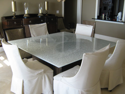 Paradise Glass and Mirror offers Crackle Glass and Mirrors in Marco Island and Naples, FL