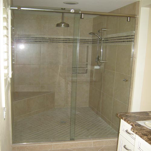 Sliding cabinet doors tracks - Paradise Glass And Mirror Offers Hydroslide Showers In Marco Island