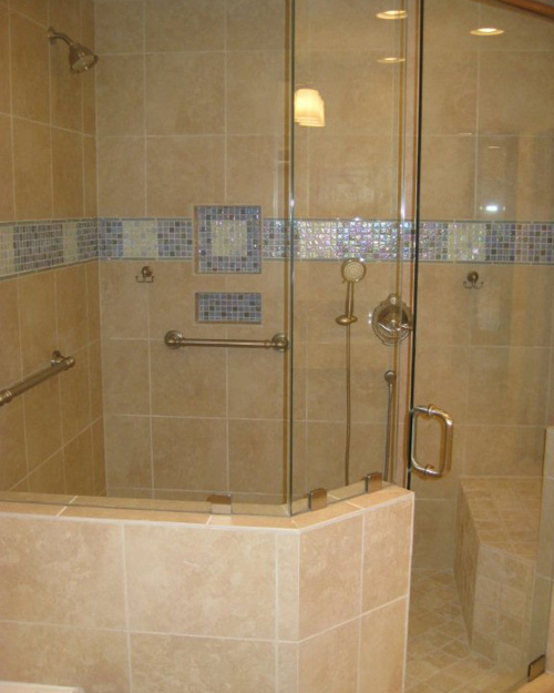 Bathroom Mirrors Naples Fl pivot door showersparadise glass and mirror in marco island fl